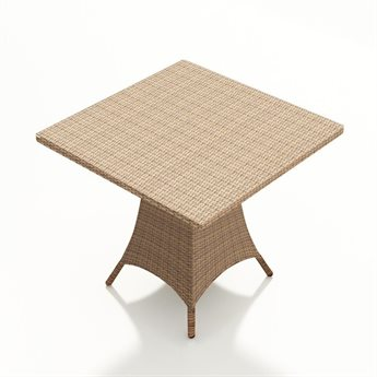 Forever Patio Hampton Wicker 36 Square Pub Table in Chocolate