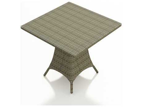 Forever Patio Hampton Wicker 36 Square Pub Table  in Heather