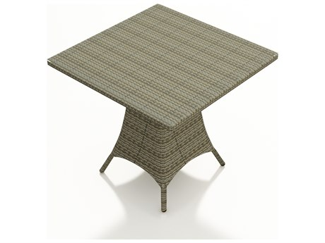 Forever Patio Hampton Wicker 36 Square Counter Table in Heather