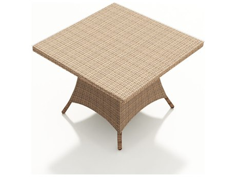 Forever Patio Hampton Biscuit Wicker 48 Square Dining Table