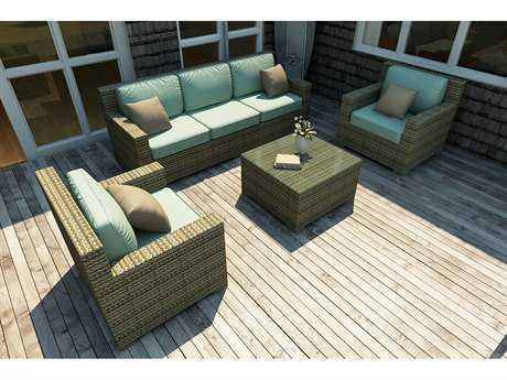 Forever Patio Quick Ship Hampton Heather Wicker Four-Piece Lounge Set