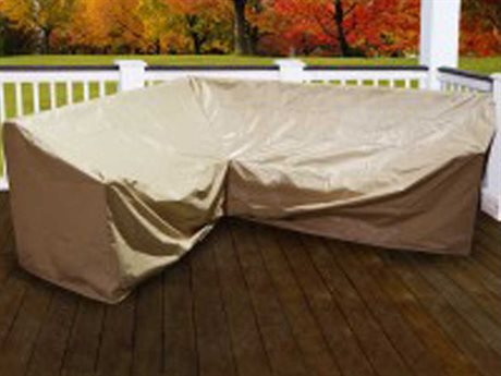 Forever Patio Cover for 6 Piece Hampton L-Shape Right-Shape Sectional L M C M M R
