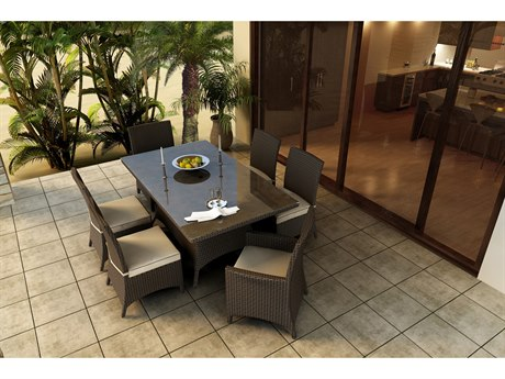 Forever Patio Hampton Wicker Seven Piece Dining Set