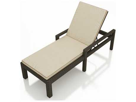 Forever Patio Hampton Wicker Cushion Arm Patio Chaise Lounge