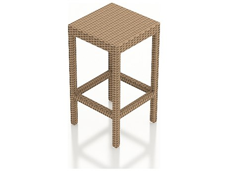 Forever Patio Hampton Biscuit Wicker Backless Stool