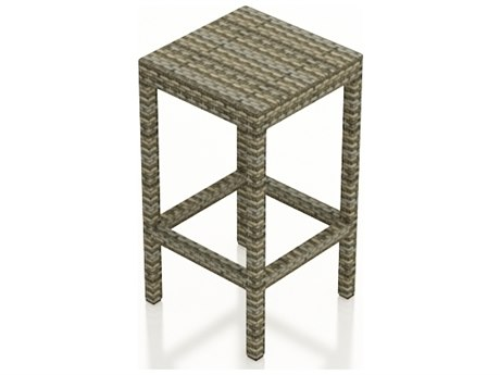 Forever Patio Hampton Heather Wicker Backless Stool