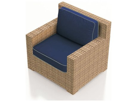 Forever Patio Quick Ship Hampton Biscuit Wicker Lounge Chair