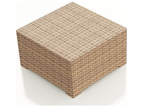 Forever Patio Hampton Biscuit Wicker 35 Square Coffee Table