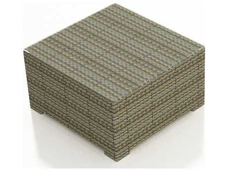 Forever Patio Hampton Wicker 35 Square Coffee Table in Heather