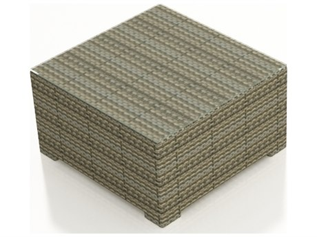 Forever Patio Hampton Heather Wicker 35 Square Coffee Table