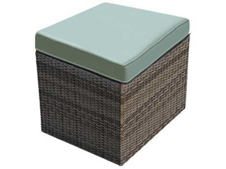 Forever Patio Hampton Heather Wicker Cube Ottoman