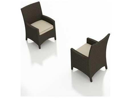 Forever Patio Hampton Wicker Cushion Arm Patio Dining Chair