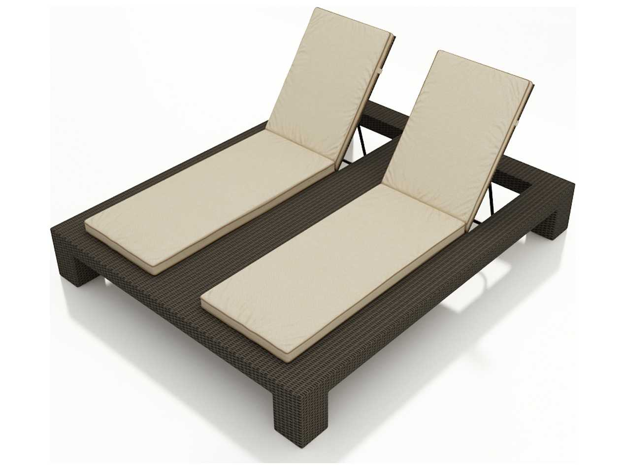 forever patio hampton wicker double adjustable chaise. Black Bedroom Furniture Sets. Home Design Ideas