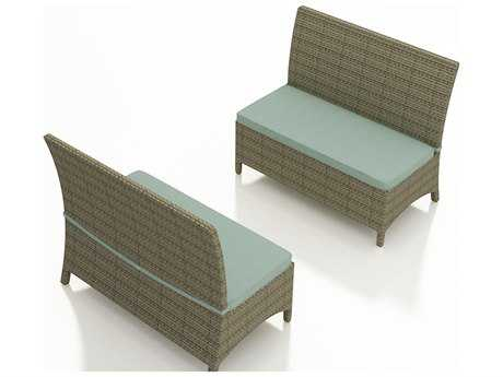 Forever Patio Hampton Heather Wicker Dining Loveseat Bench