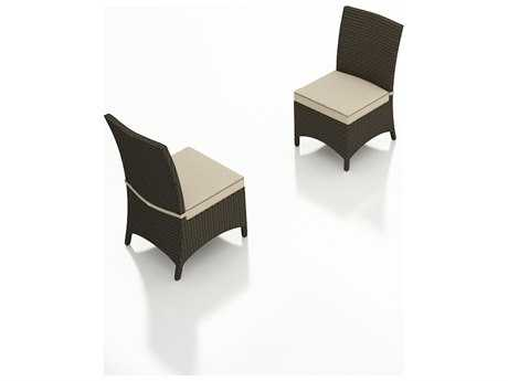 Forever Patio Hampton Wicker Cushion Side Patio Dining Chair