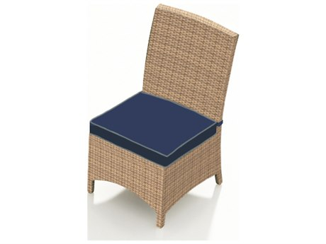Forever Patio Quick Ship Hampton Biscuit Wicker Dining Chair PatioLiving