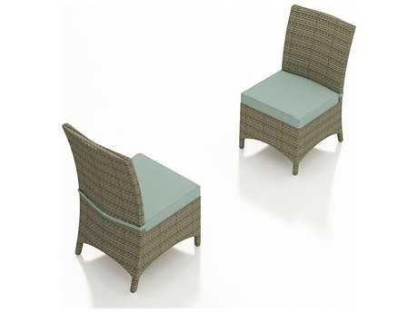 Forever Patio Quick Ship Hampton Heather Wicker Dining Chair