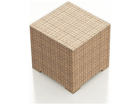 Forever Patio Hampton Biscuit Wicker 22 Square End Table