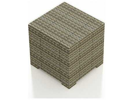 Forever Patio Hampton Wicker 22 Square End Table in Heather