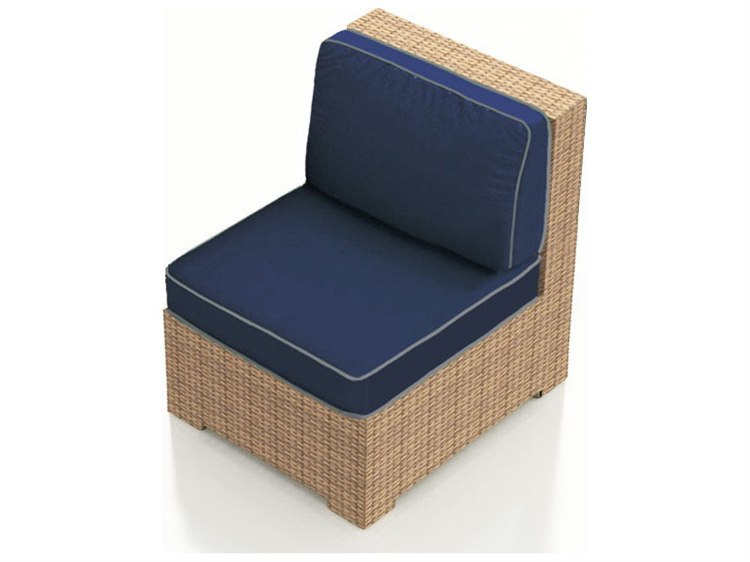 Incredible Forever Patio Hampton Biscuit Wicker Sectional Middle Chair Andrewgaddart Wooden Chair Designs For Living Room Andrewgaddartcom