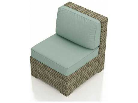 Forever Patio Quick Ship Hampton Heather Wicker Sectional Middle Chair