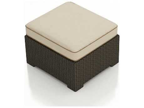 Forever Patio Hampton Wicker Cushion Patio Ottoman