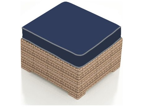 Forever Patio Hampton Biscuit Wicker Ottoman