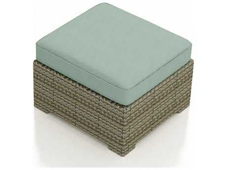 Forever Patio Hampton Heather Wicker Ottoman