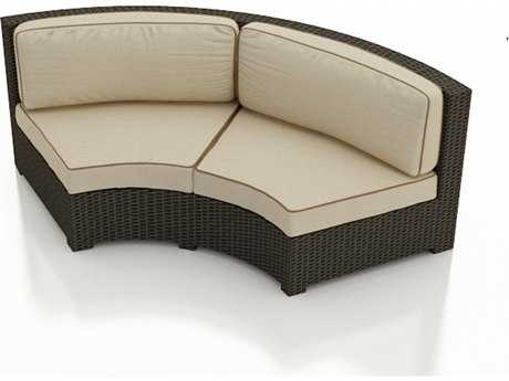 Forever Patio Quick Ship Hampton Radius Curved Loveseat Replacement Cushions PatioLiving
