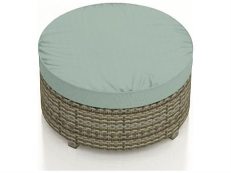 Forever Patio Quick Ship Hampton Radius Large Round Ottoman Replacement Cushions