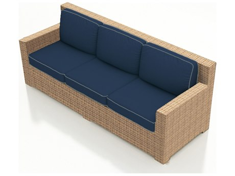 Forever Patio Quick Ship Hampton Biscuit Wicker Sofa