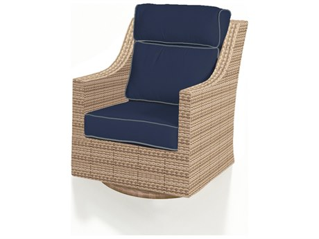 Forever Patio Quick Ship Hampton Biscuit Wicker High Back Swivel Rocker PatioLiving