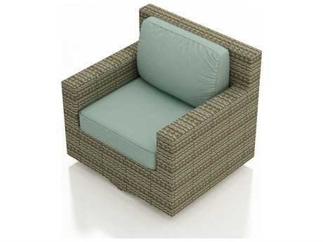 Forever Patio Quick Ship Hampton Heather Wicker Swivel Glider