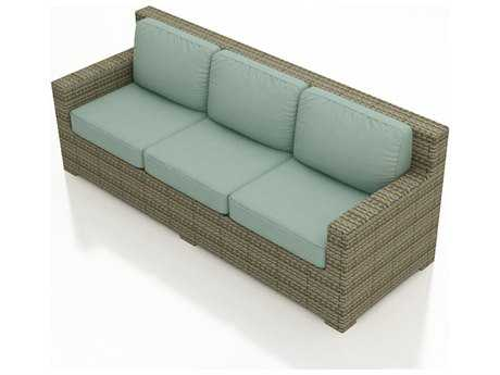 Forever Patio Quick Ship Hampton Heather Wicker Sofa