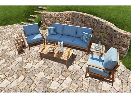 Forever Patio Hambrick Teak 5 Piece Lounge Set