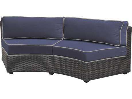 Forever Patio Horizon Bronze Smoke Wicker Sofa