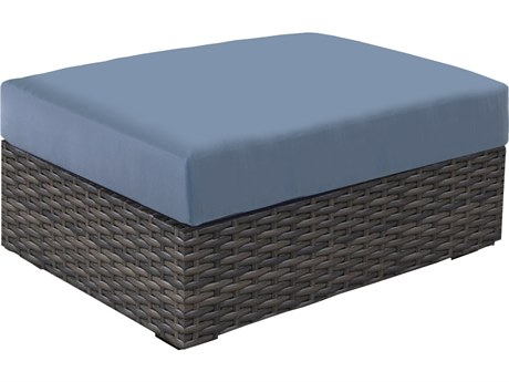 Forever Patio Horizon Bronze Smoke Wicker Coffee Table Ottoman