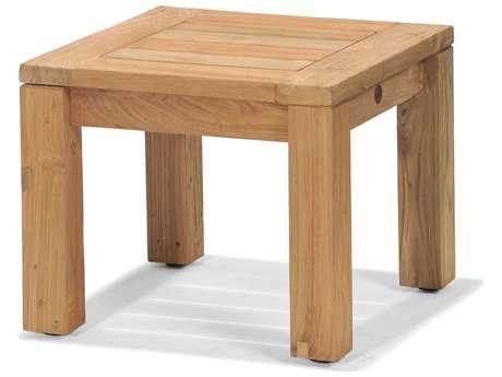 Forever Patio Lancaster Teak 20 Square Reclaimed End Table