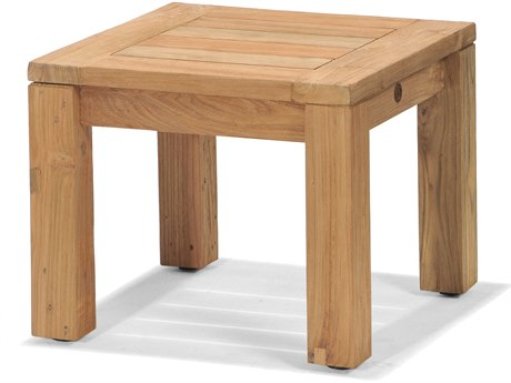 Forever Patio Lancaster Teak 20 Square Reclaimed End Table PatioLiving