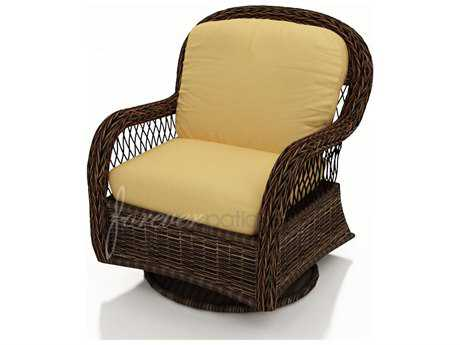 Forever Patio Leona Wicker Cushion Swivel Glider Lounge Chair