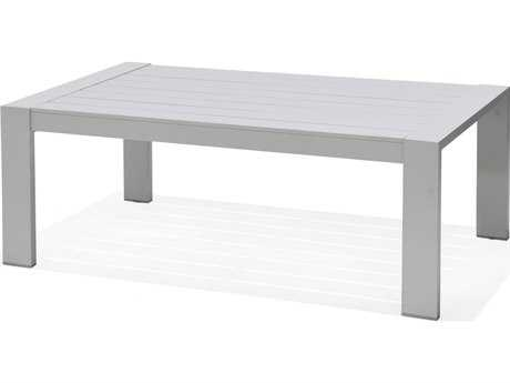 Forever Patio Lincoln Park Aluminum 43 x 26 Rectangular Coffee Table in Ash