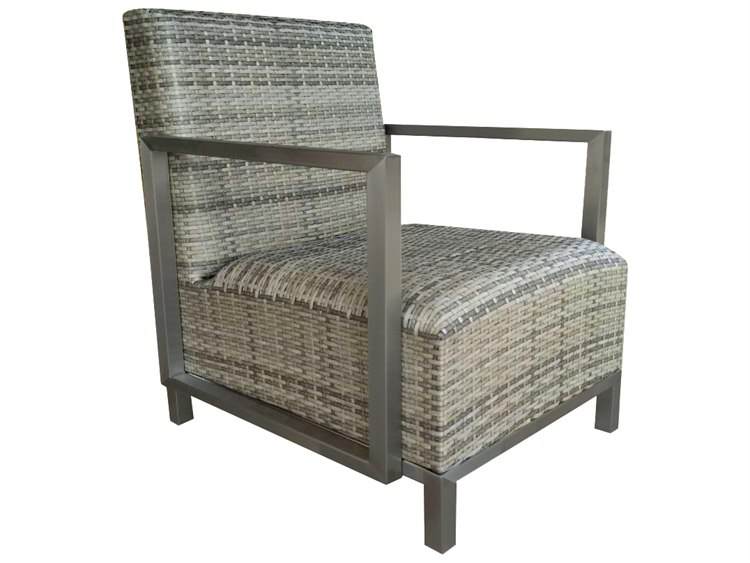 Forever Patio Mariner Heather Wicker Padded Lounge Chair | FP MAR C STE HT