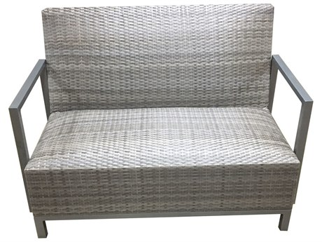 Forever Patio Mariner Wicker Heather Flat Padded Loveseat PatioLiving