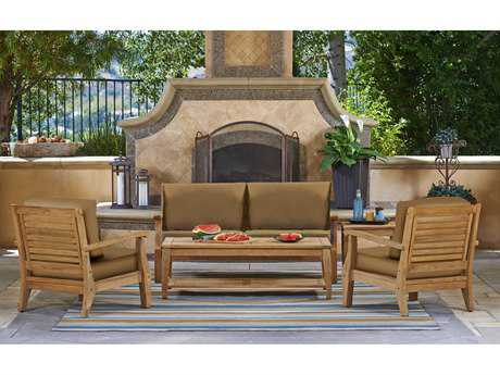 Forever Patio Quick Ship Miramar Plantation Teak Four-Piece Lounge Set