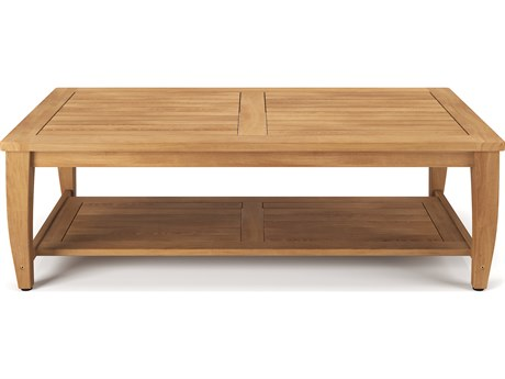 Forever Patio Miramar Plantation Teak 55 x 28 Rectangular Coffee Table