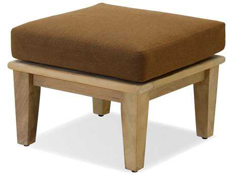 Forever Patio Quick Ship Miramar Plantation Teak Ottoman