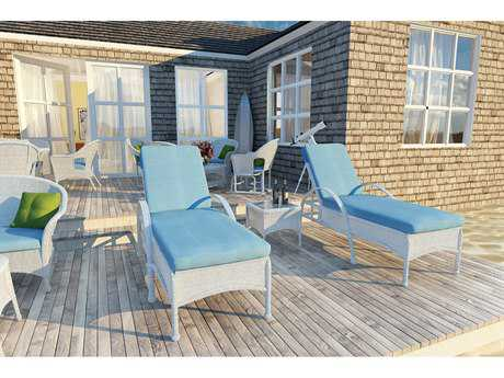 Forever Patio Quick Ship Rockport White Wicker Three-Piece Lounge Set