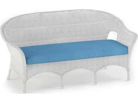 Forever Patio Rockport White Wicker Sofa