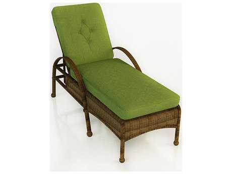 Forever Patio Quick Ship Rockport Chestnut Wicker Chaise Lounge