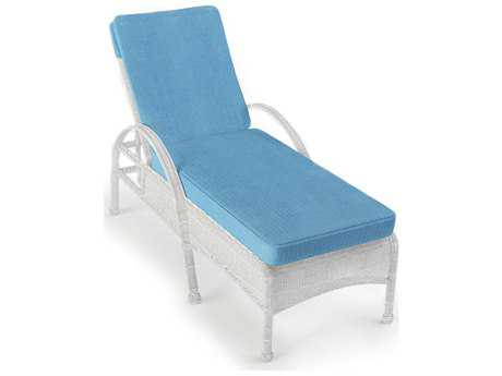 Forever Patio Quick Ship Rockport White Wicker Chaise Lounge